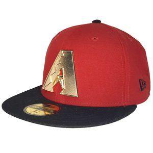 Arizona Diamondbacks Gold Metal Fitted Hat